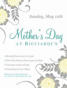 Mothers Day Flyer Mother S Day Flyers