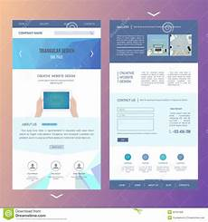One Page Flyer Modern One Page Website Template Design With Stock Vector