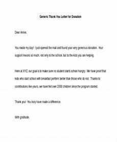 Free 7 Thank You Letters For Donations In Pdf Word