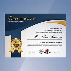 Record Of Achievement Template Blue And White Elegant Certificate Of Achievement Template