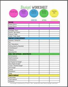 Printable Budget Sheet 20 Gorgeous Free Budget Printables I Want A Bit More