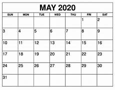 Free 2020 Calendars May 2020 Calendar Wallpaper For Office Free Printable