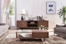 walnut wood modern media console on legs houston vig