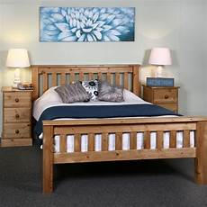 6ft king size solid wood bed frame chunky slatted