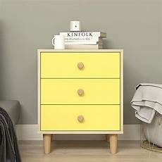 ktol nordic nightstand 3 tier sofa side end table with 4