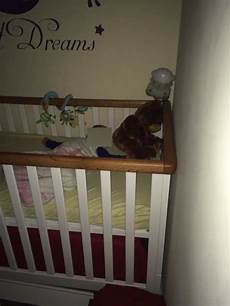 cot 3 height levels moveable gate baby toddler cot