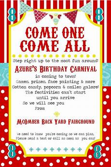 Party Invation Free Printable Carnival Party Invitation Template