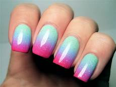 Light Pink And Green Nails Soft And Pretty With Mint Green Nails