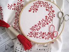 embroidery projects 2012 tea towel calendar diy embroidery kit