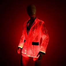 Led Light Up Jacket Led Jacket For Men Platinum Glow In Dark Fiber Optic