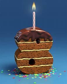candela a forma di torta torta di compleanno a forma di di numero otto