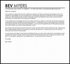Auto Mechanic Cover Letter Mechanic Sample Cover Letter Cover Letter Templates