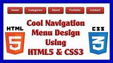 Css3 Design Tutorial Cool Navigation Menu Design Using Html5 Amp Css3 Web