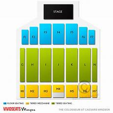 Caesars Windsor Colosseum Seating Chart The Colosseum At Caesars Windsor Tickets The Colosseum