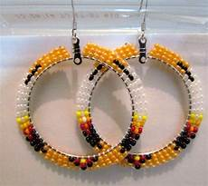 beadwork earrings beautiful beaded hoop earrings 2 inches