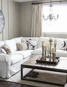 White Slip Covers For Furniture Sofa 3d Image by Ektorp Sectional With White Slipcovers For The Living Room