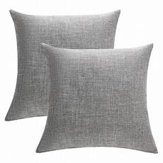 Sofa Pillows 18x18 Set Of 4 3d Image by Wendana Set Of 2 Solid Gray Cotton Linen Decorative Throw