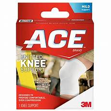 ace knee compression sleeve ace compression knee support large walmart