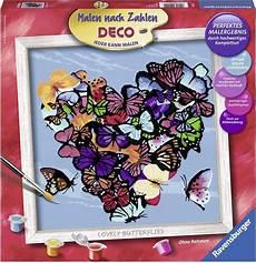 ravensburger malen nach zahlen 187 lovely butterflies deco