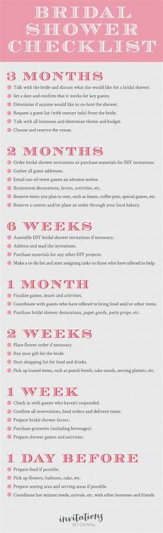 Bridal Checklist Bridal Shower Basics