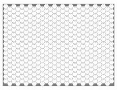 Printable Hex Grid Quickly Quietly Carefully Judges Guild Style Numbered