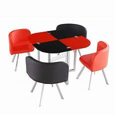kosy koala glass dining table and 4 faux leather chairs