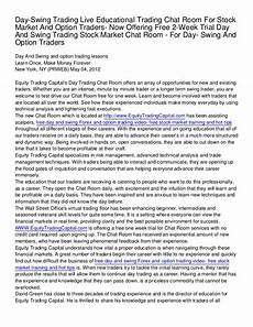option swing trading day swing trading live educational trading chat room for