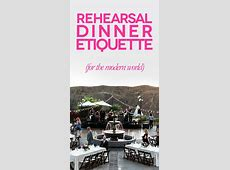 Rehearsal Dinner: Everything You Need To Know   A