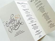 Tri Fold Wedding Programs Scripted Pearl Shimmer Trifold Wedding Programs Wedding