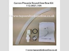 Carron Phoenix Round overflow kit 2W1280   Sink Parts UK   Tap Parts Taps And Sinks Online