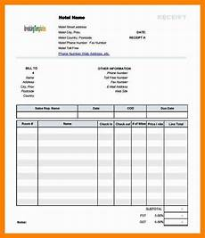 On Approval Bill Format Lodge Bill Format In Word 8 Hotel Bill Invoice Format