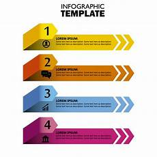 Infographic Arrow Colored Infographic Arrow Banners Vector Free Download