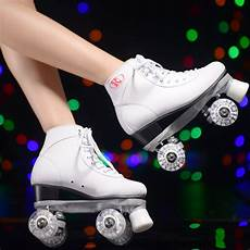 Roller Skates With Lights In Wheels White Roller Skates With White Led Lighting Wheels Double