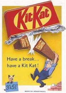 Advertisement Posters 1950 S Kit Kat Advertising Poster A3 A2 Print
