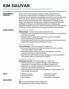 Online Resume Help 30 Resume Examples View By Industry Amp Job Title