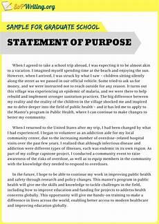 Statement Of Purpose For Grad School Examples Impressive And Useful Statement Of Purpose Sample