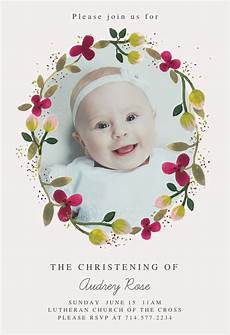 Christening Invitation Card Design Free Download Floral Happiness Baptism Amp Christening Invitation