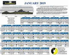 Solunar Feeding Chart 2020 Solunar Calendar 2019 Calendar