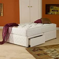 small 4 0 divan bed 2 drawers and ortho mattress