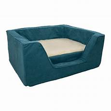 luxury square bed with memory foam by snoozer pet products