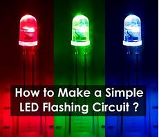 Make Led Lights Flash How To Make A Simple Led Circuit Using 555 Timer Ic