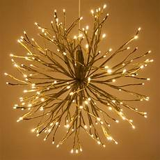 Twinklers Lights Gold Starburst Lighted Branches With Warm White Led
