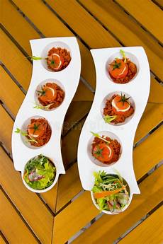 delicious light appetizers stock image image of serving