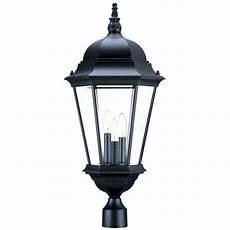 Intertek Lighting Home Depot Acclaim Lighting Richmond 3 Light Matte Black Outdoor Post