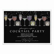 Cocktail Party Invitation Retro Drinks And Bubbles Cocktail Party Invitation Zazzle