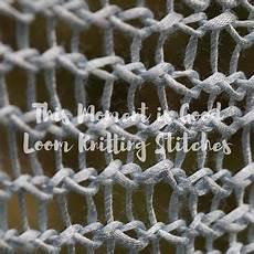 loom knitting stitch library loom knitting by this