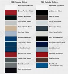 Bmw Mini Colour Chart Check Out The Color Choices For Your 2012 Bmw F30 3 Series