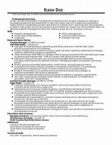 Regional Property Manager Resumes Property Manager Resume Sample Tutore Org Master Of