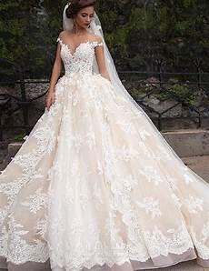 luxury lace gown wedding dress 2017 shoulder