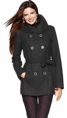 nine west coats for classroom nine west charcoal breasted wool belted coat size